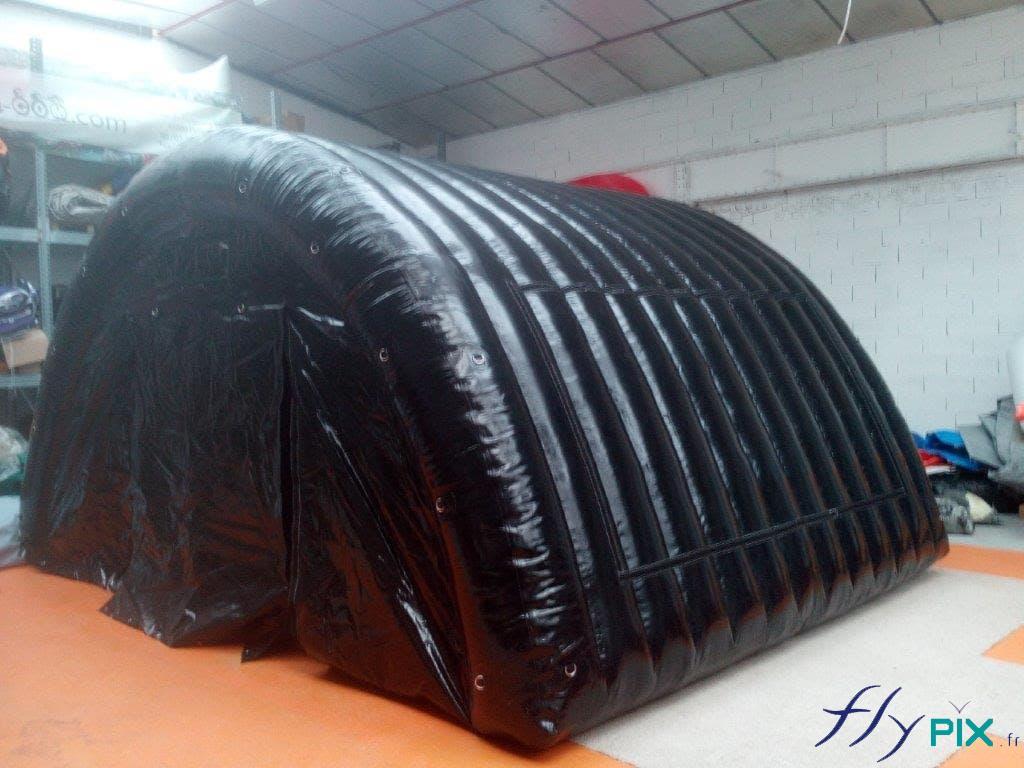 Tente de stockage gonflable noire, fabriquée pour l'armée