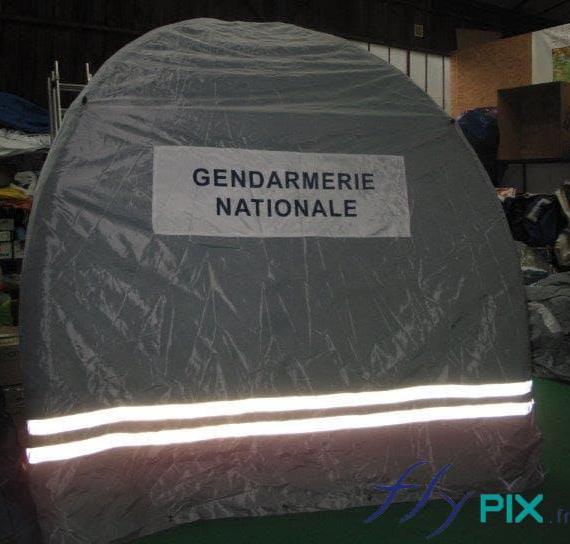Barnum gonflable fabriquée pour la Gendarmerie Nationale