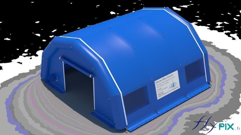 BAT tente PMA bleue, poste médical avancé.