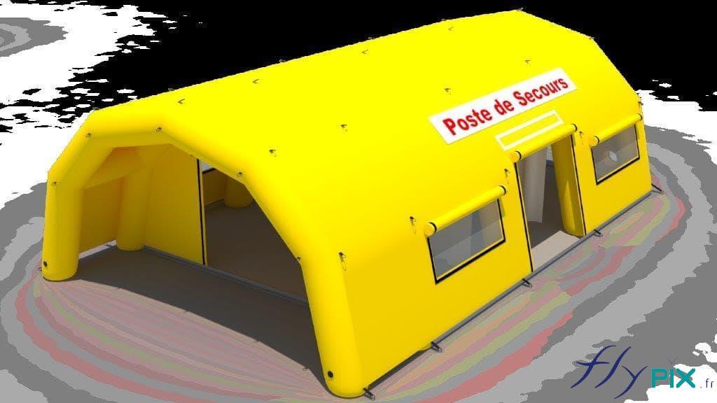 Un exemple de bon à tirer en vue 3D pour une tente médicale