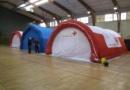 Tente PMA 6 x 10 x 2.75 m (modèle simple économique), air captif, pompe + régulation pression, PVC 0,6 mm