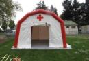 Tente PMA L = 5 m; l = 4,5 m; H = 2.5 m, PVC 0,45 mm, ventilée par turbine