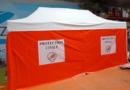 Tente PMA pliable 6 x 3 m avec armatures, pour la Protection Civile au Niger