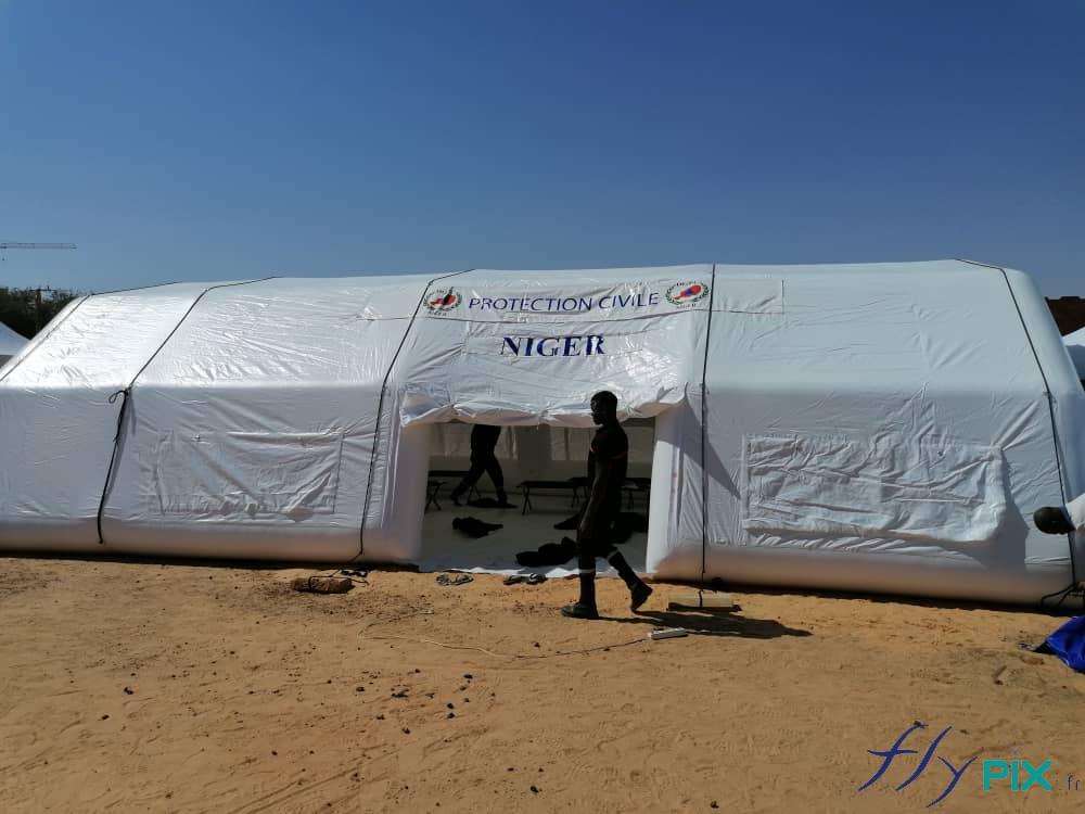 Vue générale de la tente médicale poste médical avancé (Tente PMA)