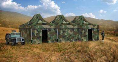 Tentes militaires pliables 6 x 4 m, avec camouflage imprimé total covering